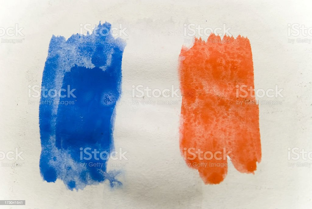 french  flag water color royalty-free stock photo