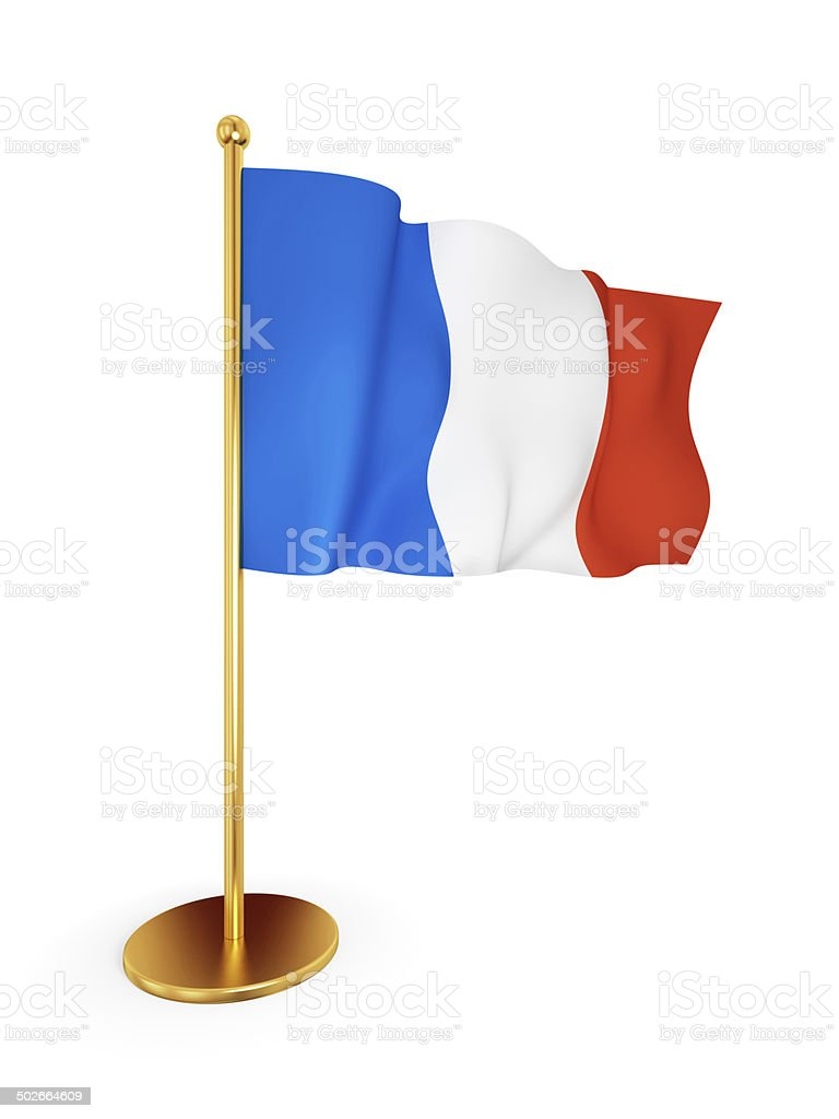 French flag waving on wind. royalty-free stock photo