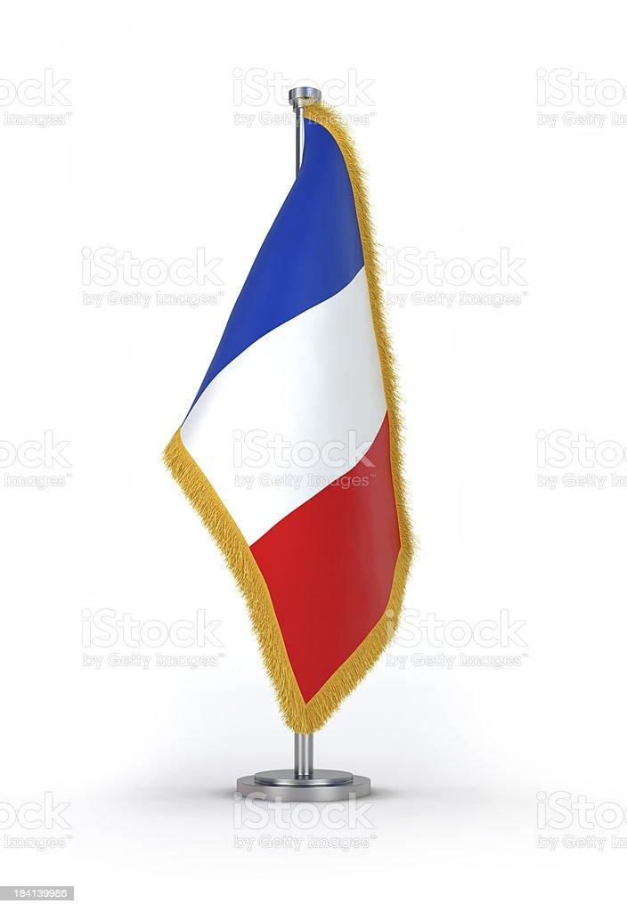 French Flag with golden Fringe stock photo