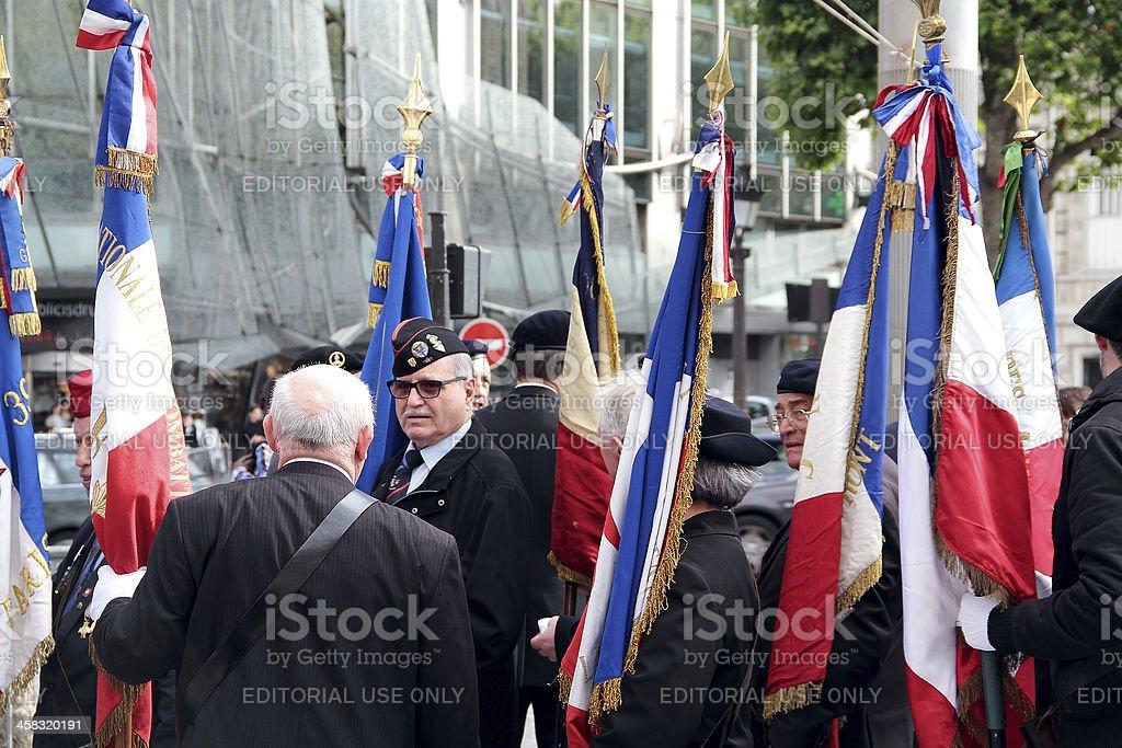 Francese bandiera su Bastiglia 2012 foto stock royalty-free