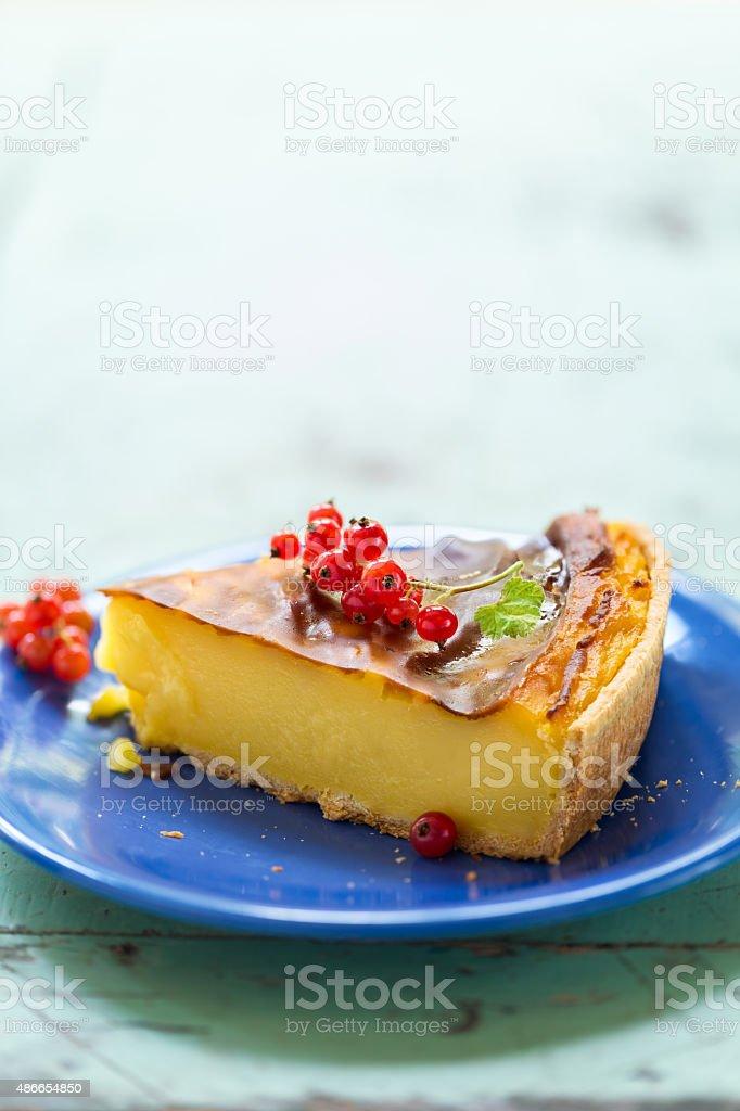 French Flan stock photo
