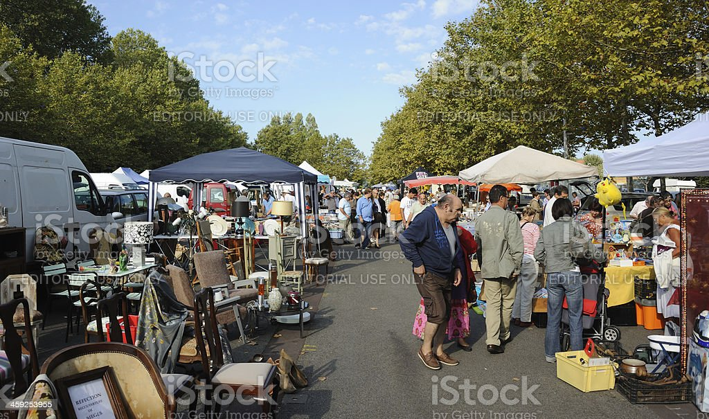 French Flea Market stock photo