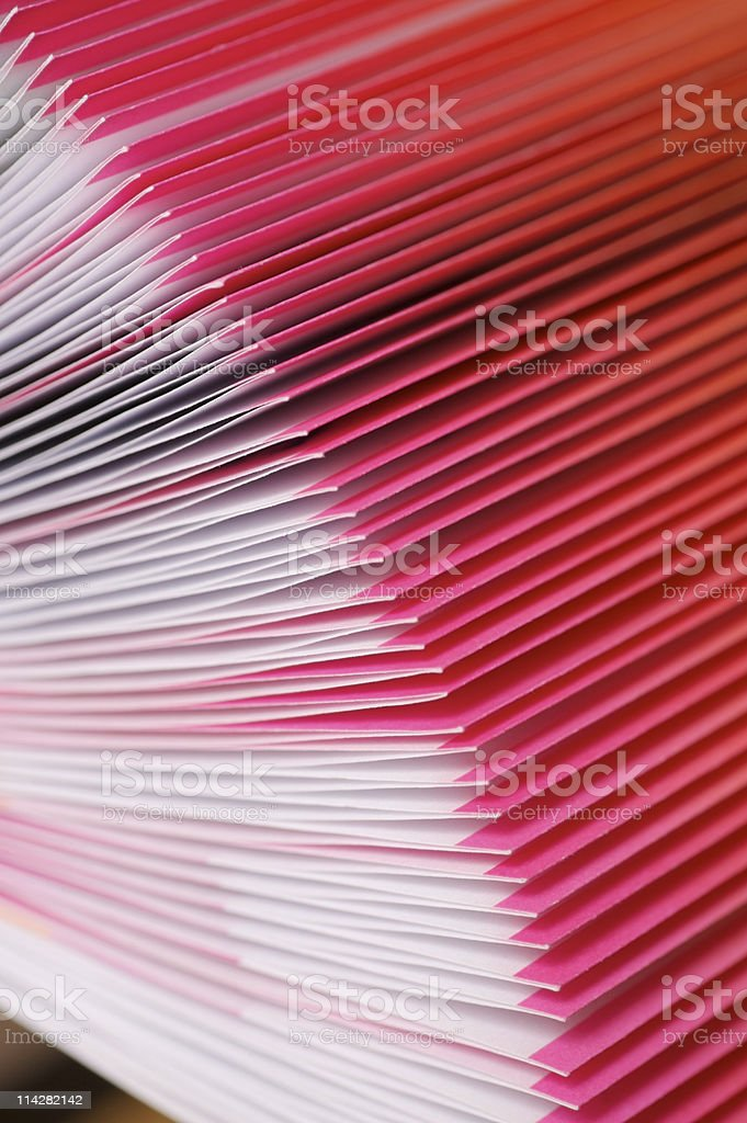 French folded pages... stock photo