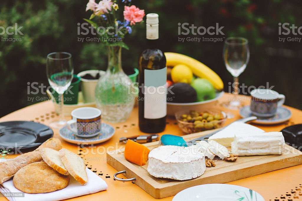 French food on the table stock photo