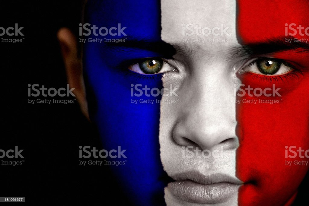 French football fan royalty-free stock photo