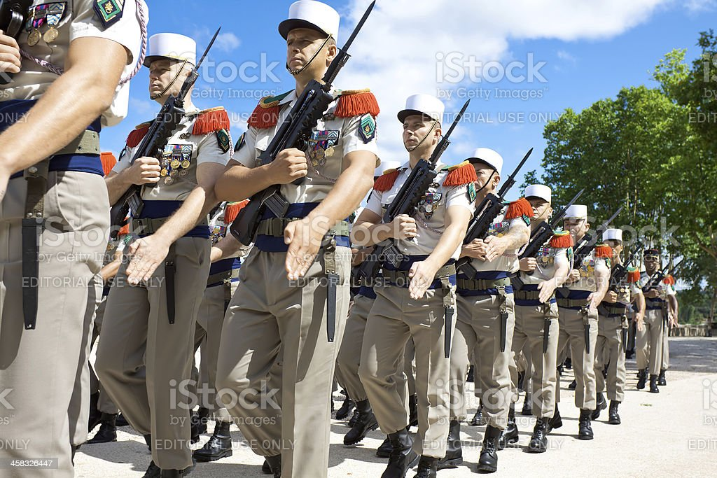 French Foreign Legion royalty-free stock photo