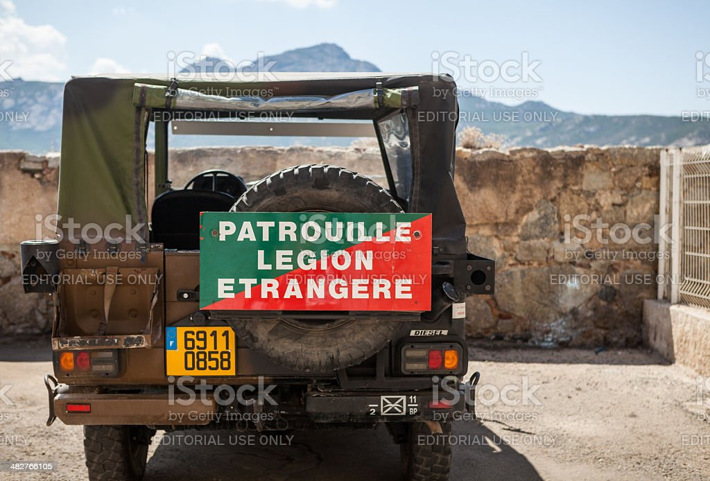 French Foreign Legion stock photo