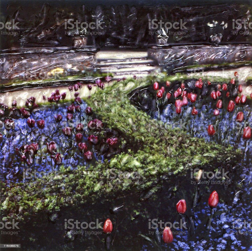 French Formal Garden stock photo