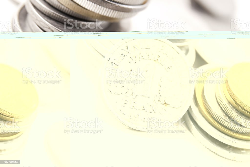french franc coins royalty-free stock photo