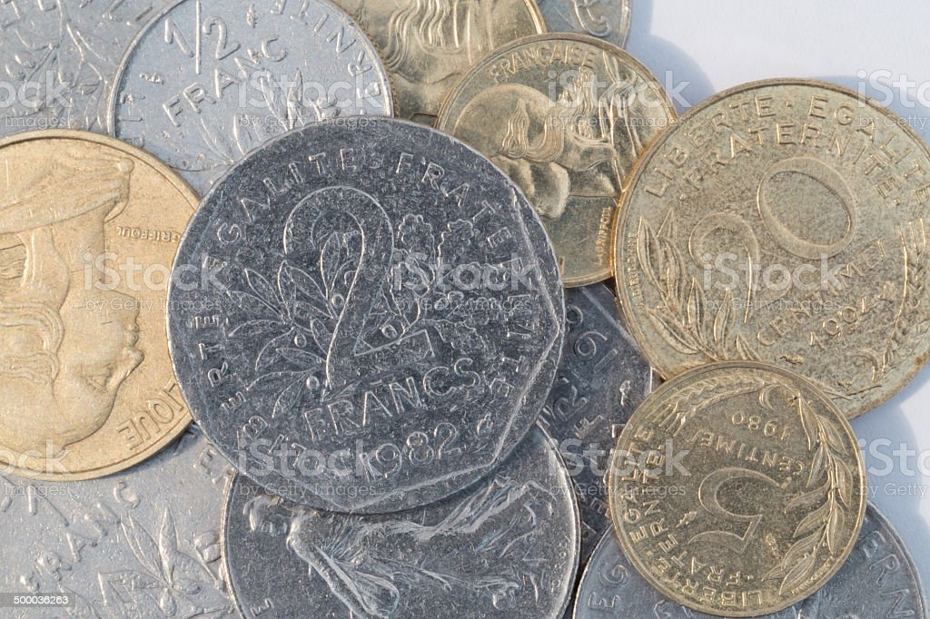 French Francs royalty-free stock photo