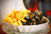 French Fries and Mussels or Moules Frites