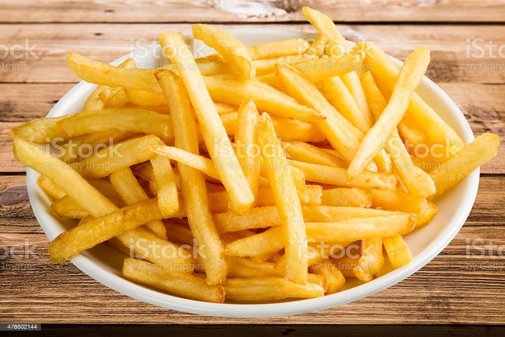 French Fries, Fast Food French Fries, Prepared Potato stock photo