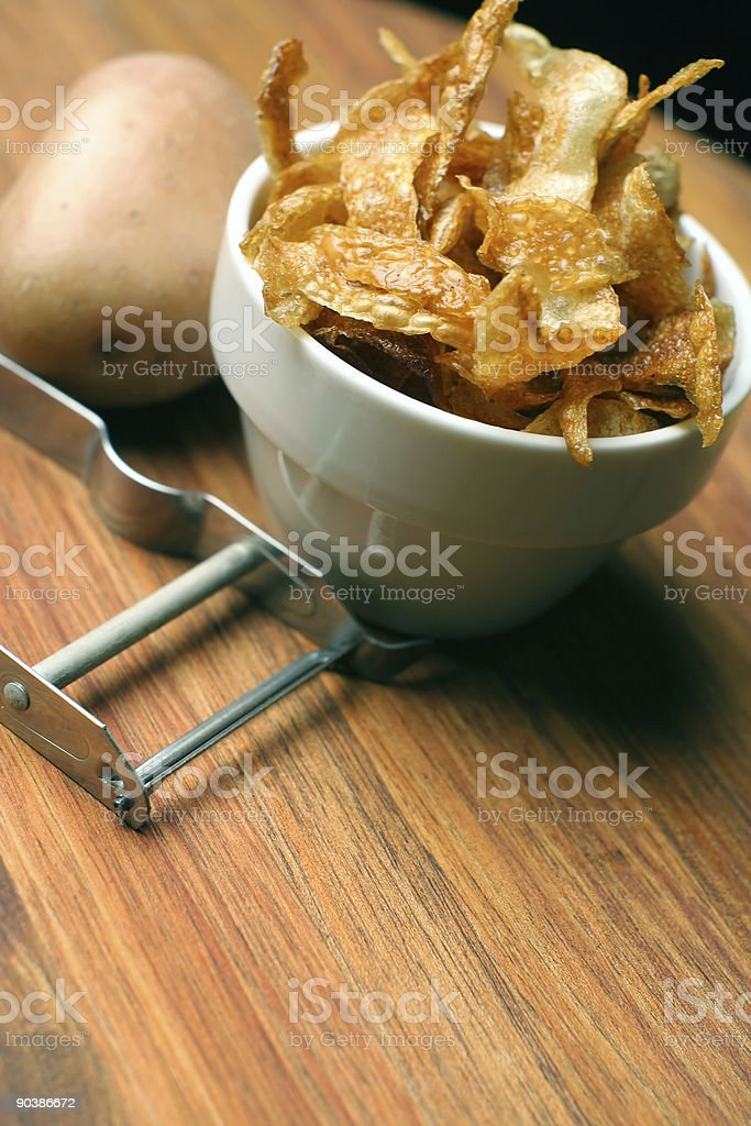 french fries; home-made and crispy royalty-free stock photo