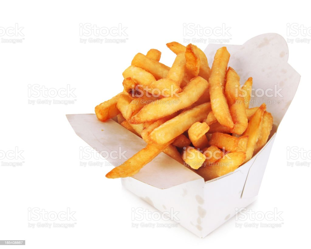 French Fries in a box royalty-free stock photo