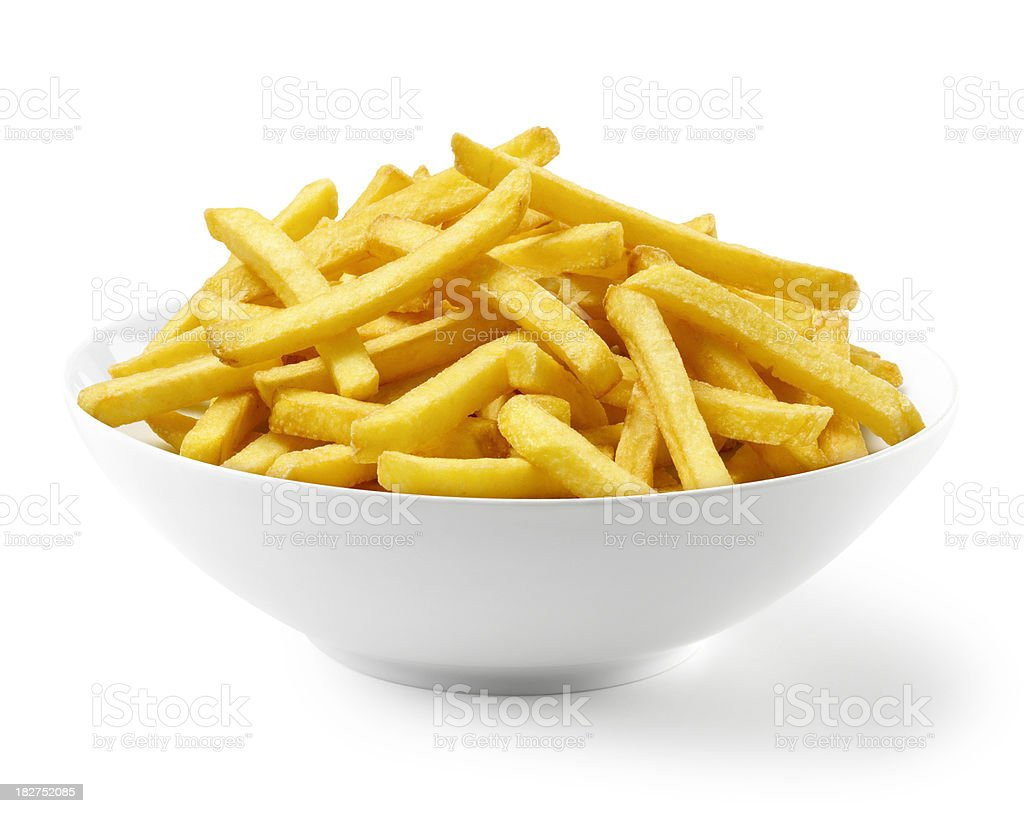 French Fries in bowl stock photo