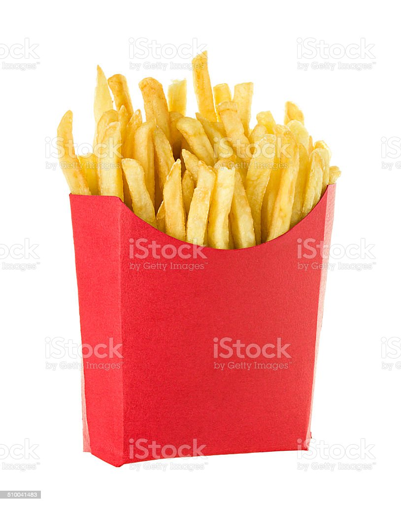 French fries isolated on white background stock photo