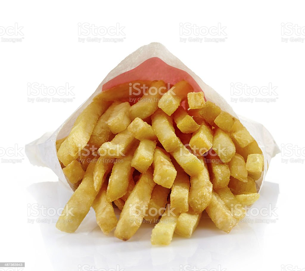 French fries on a white background. royalty-free stock photo