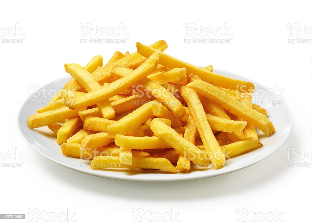 French Fries on Plate stock photo