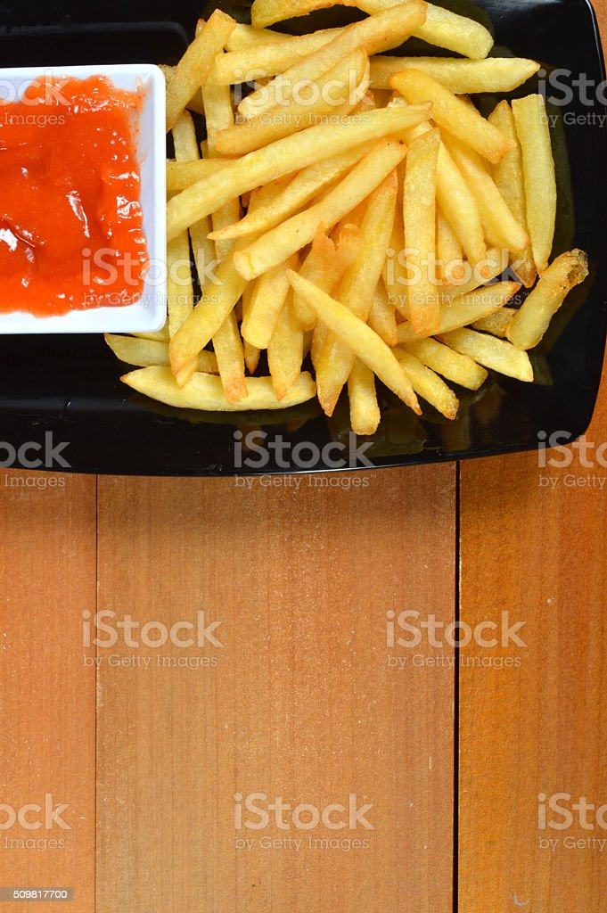 French fries stock photo