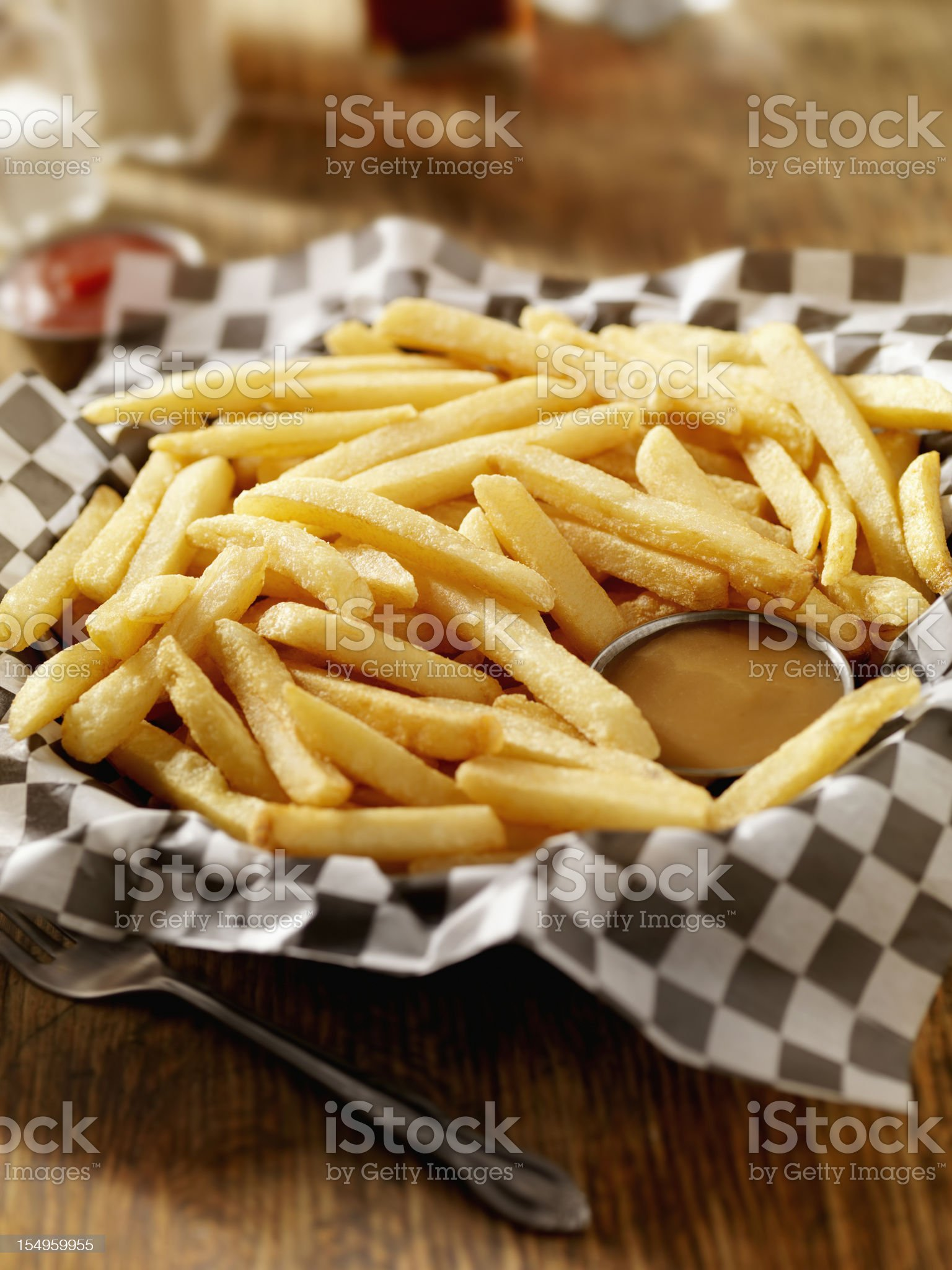 French Fries with Gravy royalty-free stock photo
