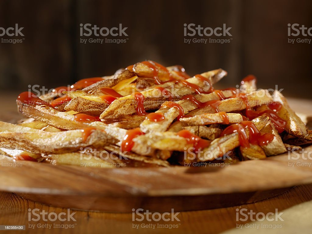 French Fries with Ketchup royalty-free stock photo