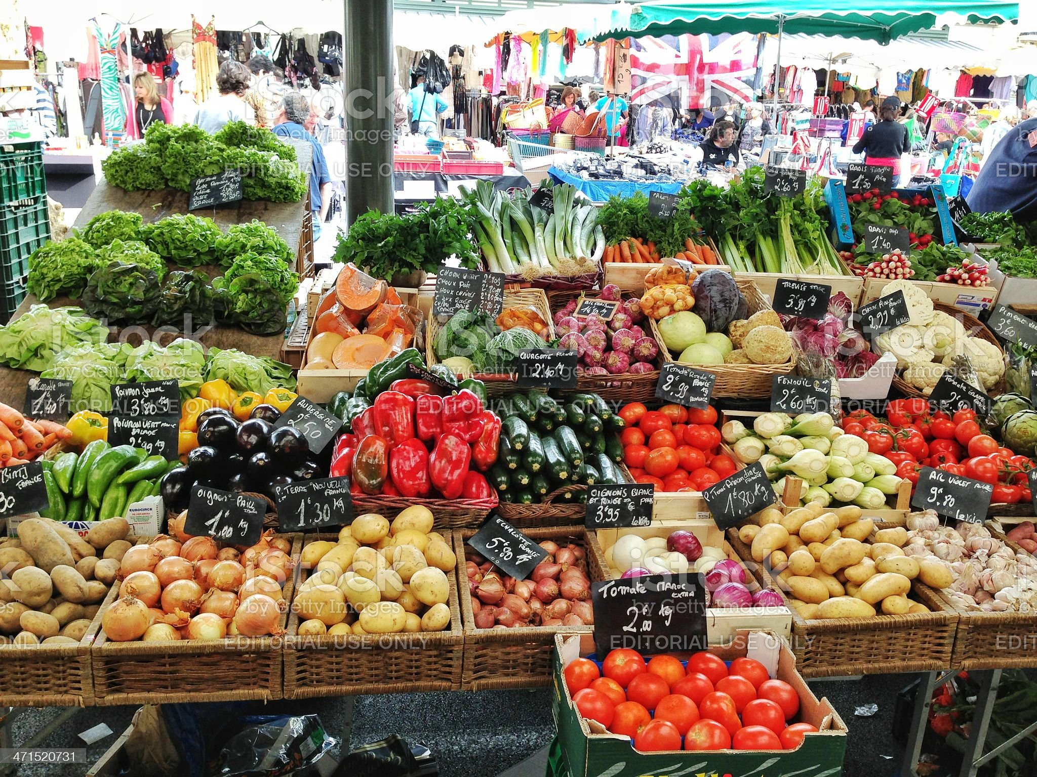 French Fruit Market royalty-free stock photo