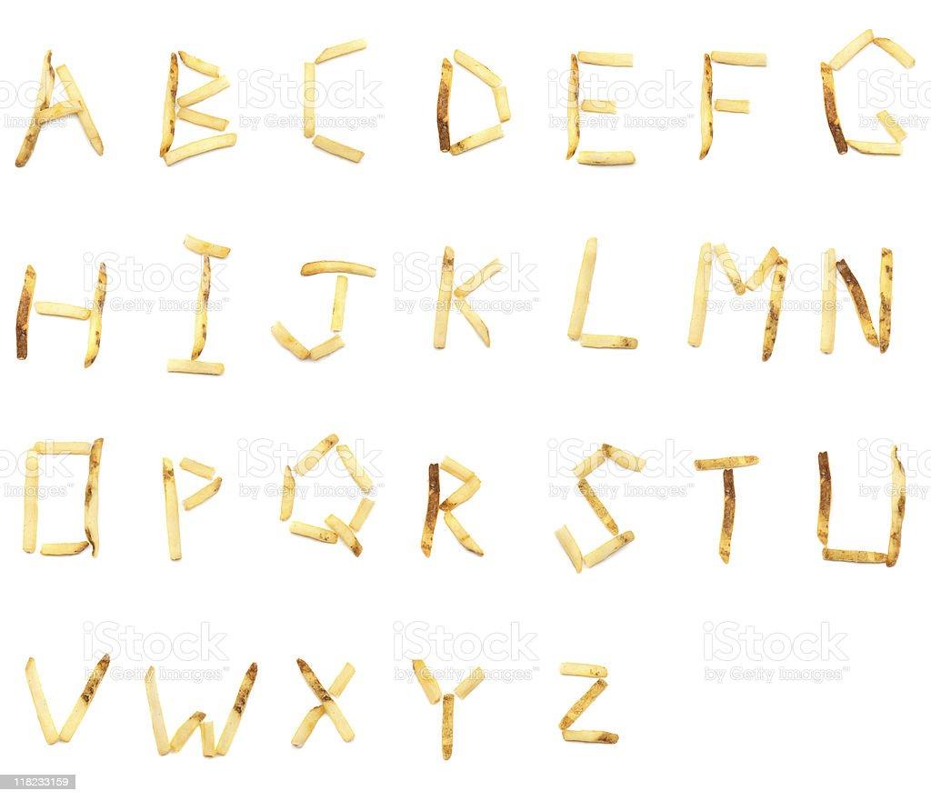 French Fry Alphabet (XXXL) royalty-free stock photo