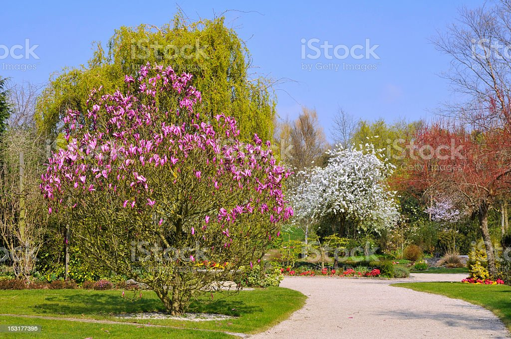 French garden in Normandy royalty-free stock photo
