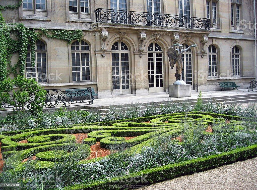 French garden stock photo