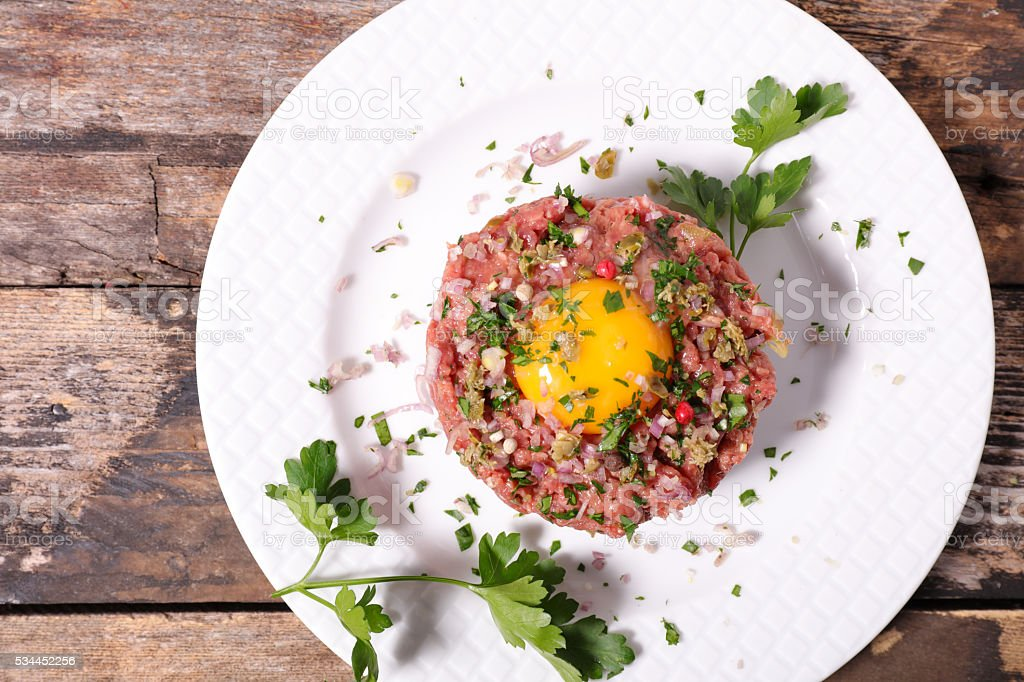 french gastronomy,steak tartare stock photo