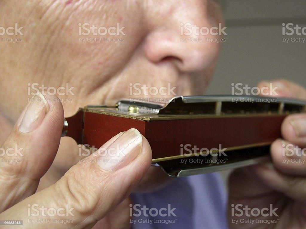 French Harp - Harmonica stock photo