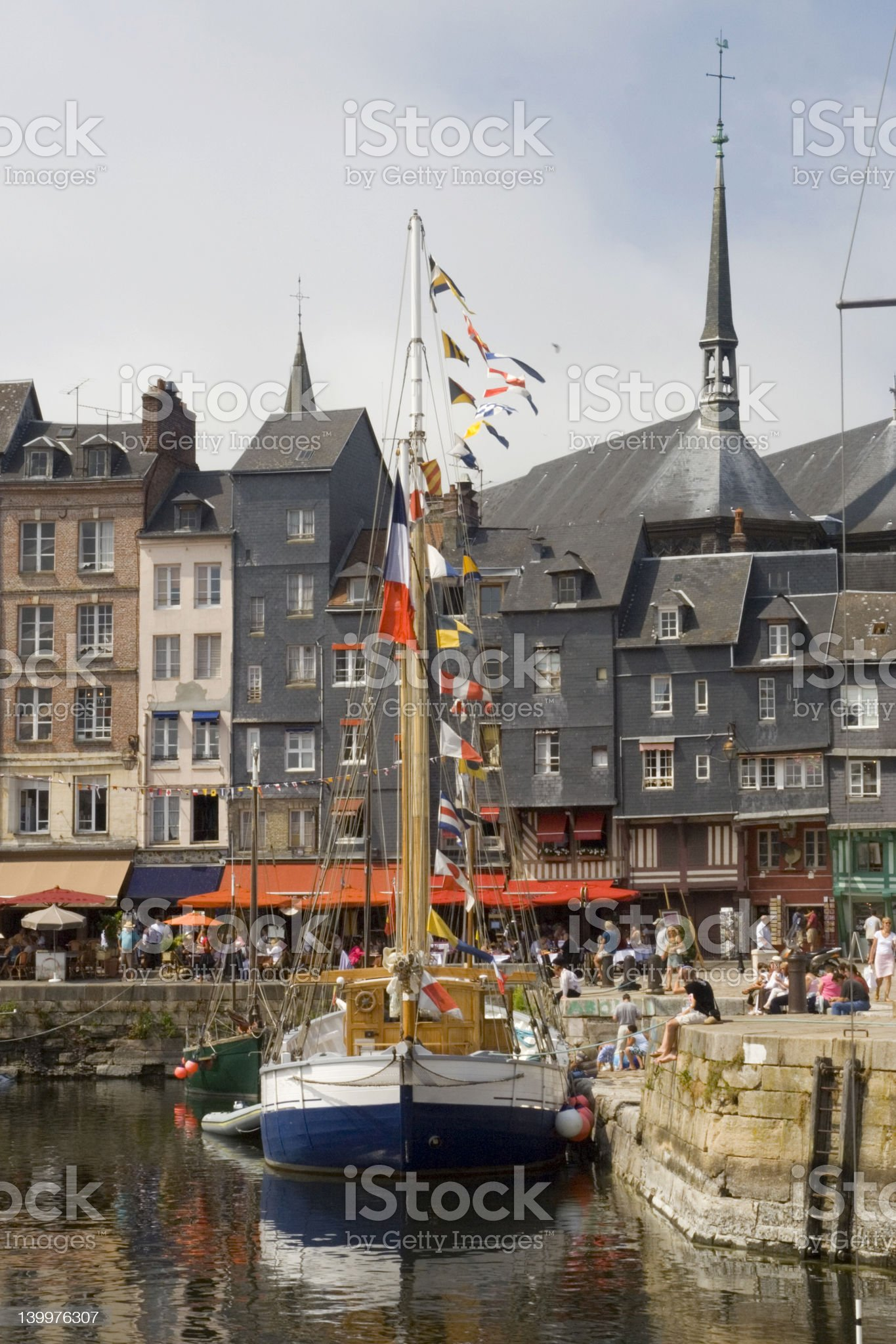 French historic port royalty-free stock photo
