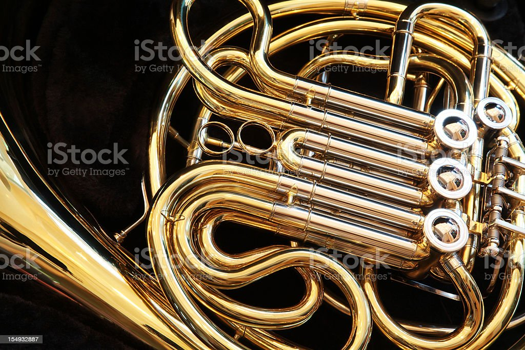 French Horn Closeup stock photo