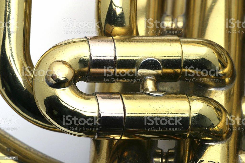 French Horn macro royalty-free stock photo
