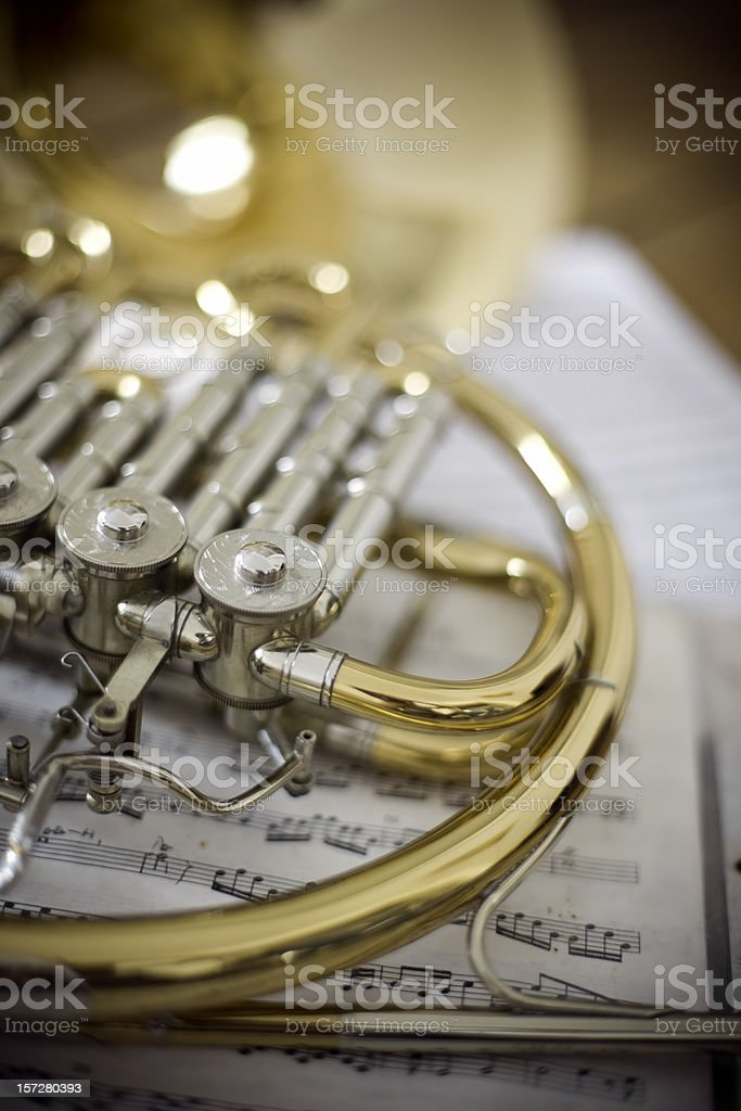 French Horn music royalty-free stock photo