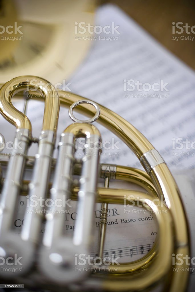French Horn papers royalty-free stock photo
