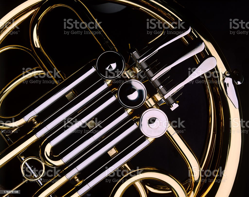 French Horn royalty-free stock photo