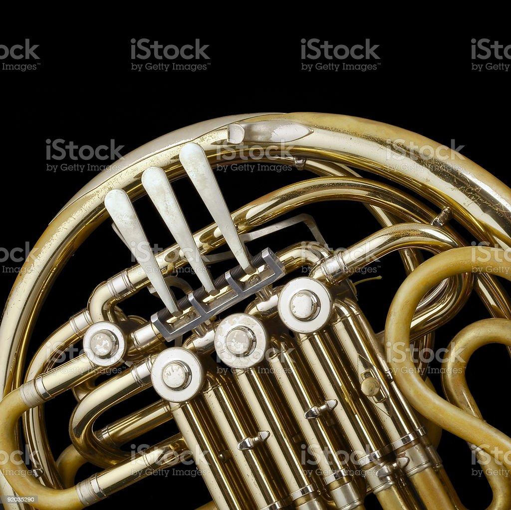 French Horn Valves stock photo