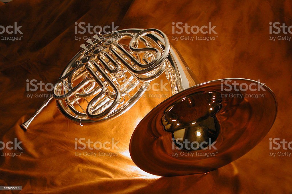 french horn2 royalty-free stock photo