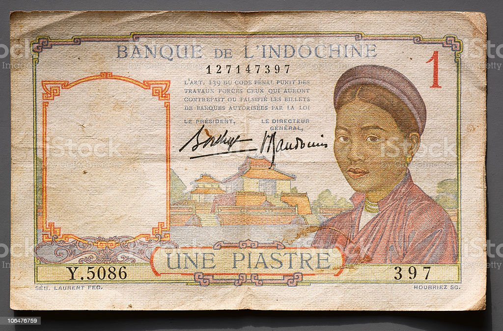french indochine piastre stock photo