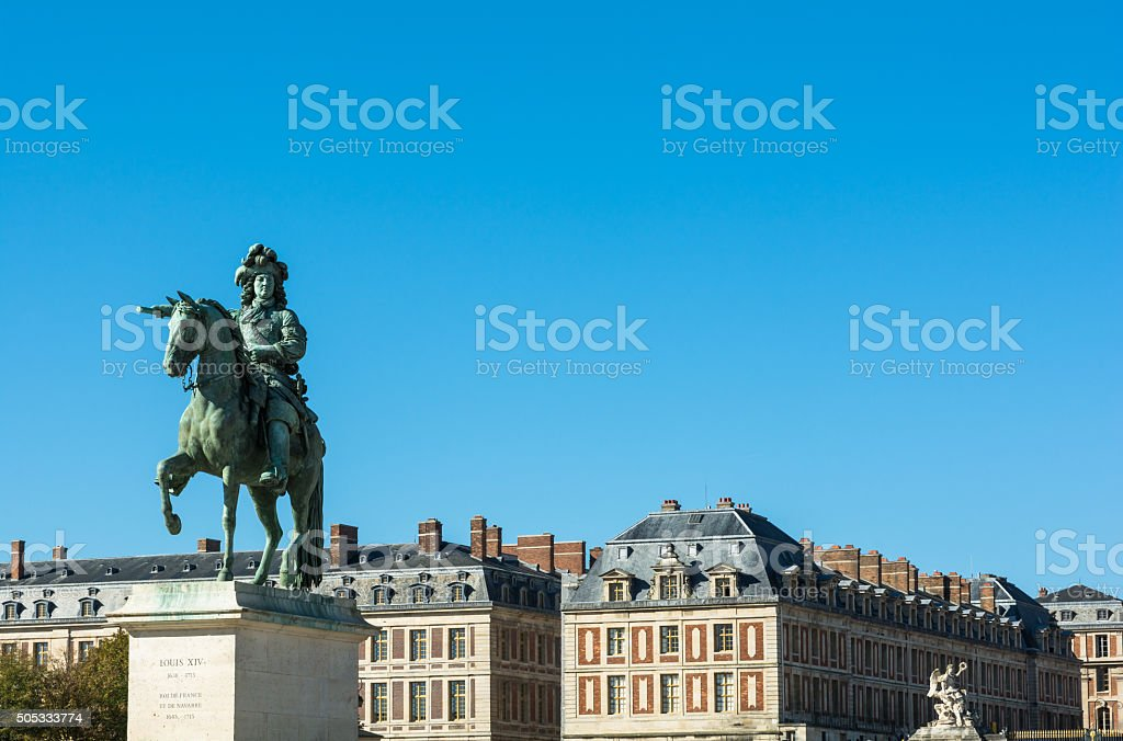 French king Louis XIV monument in Paris stock photo