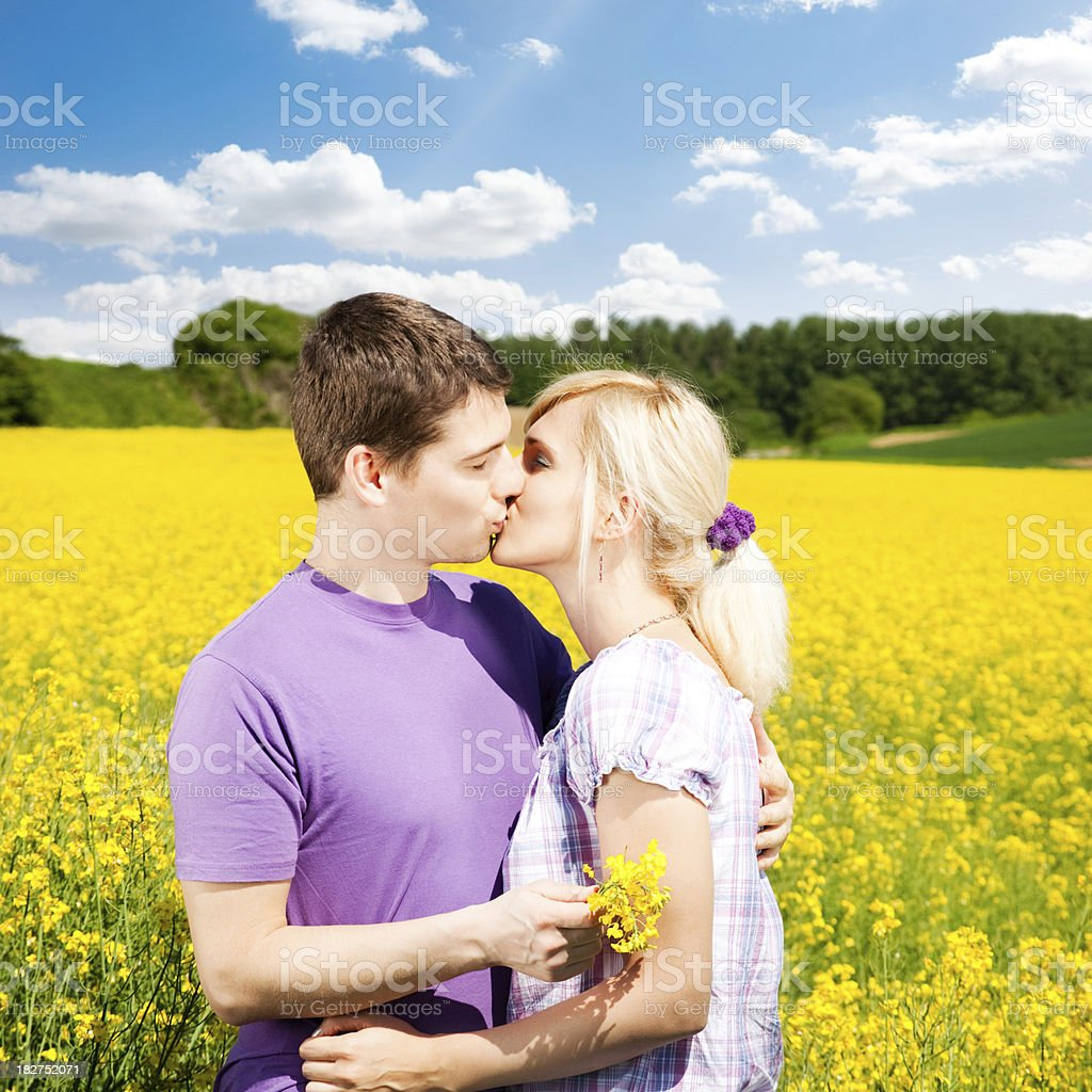 French Kiss royalty-free stock photo
