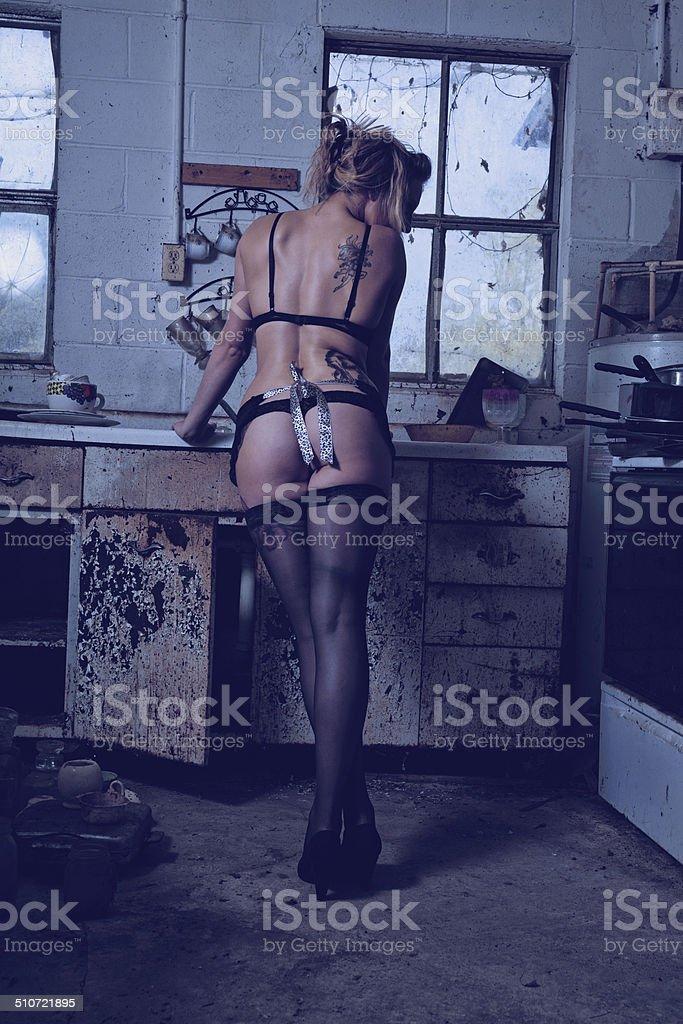 french kitchen stock photo