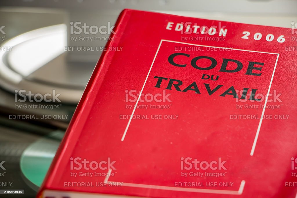 French labor code book stock photo