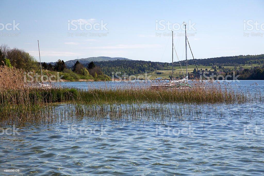 French lake, Lac Saint Point stock photo