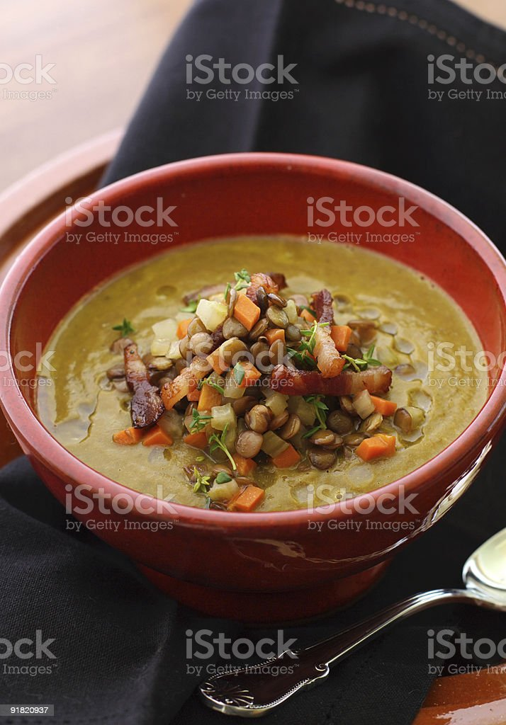 French lentil soup royalty-free stock photo