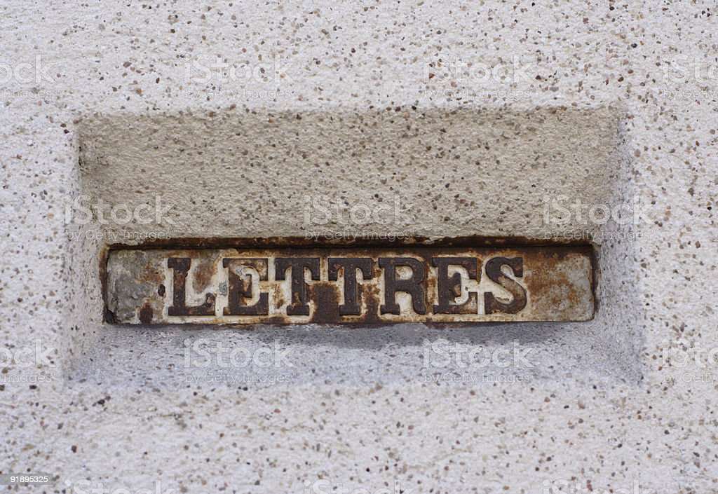 french letter box royalty-free stock photo