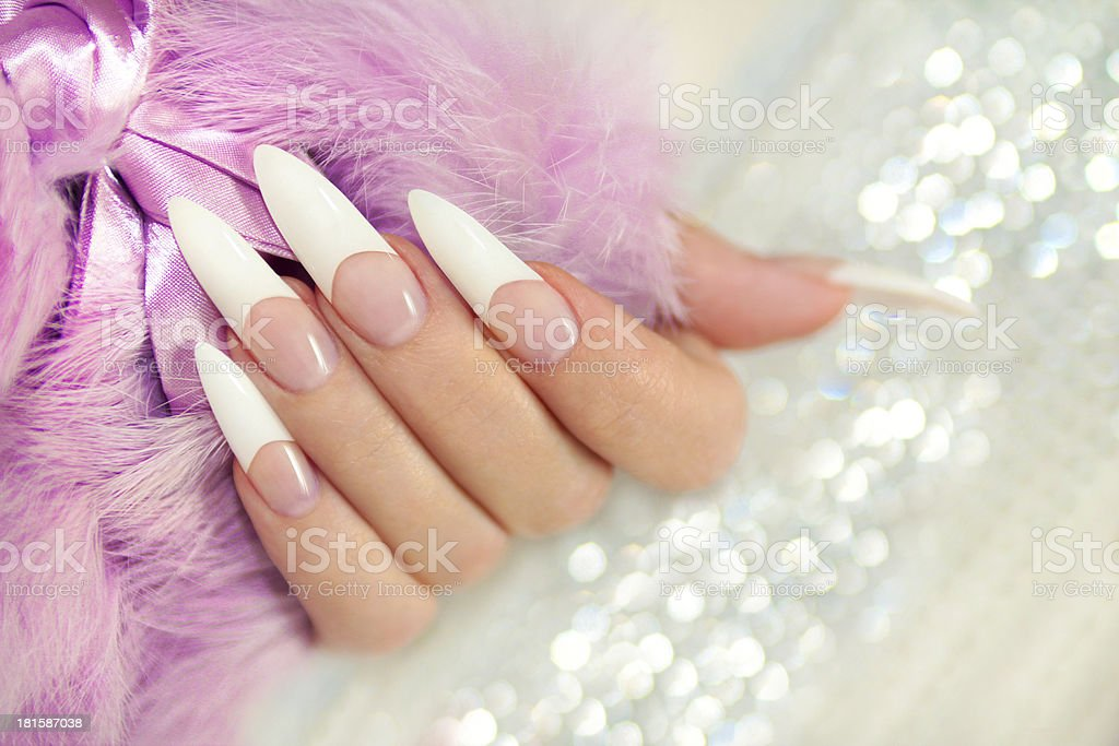 French long manicure. royalty-free stock photo