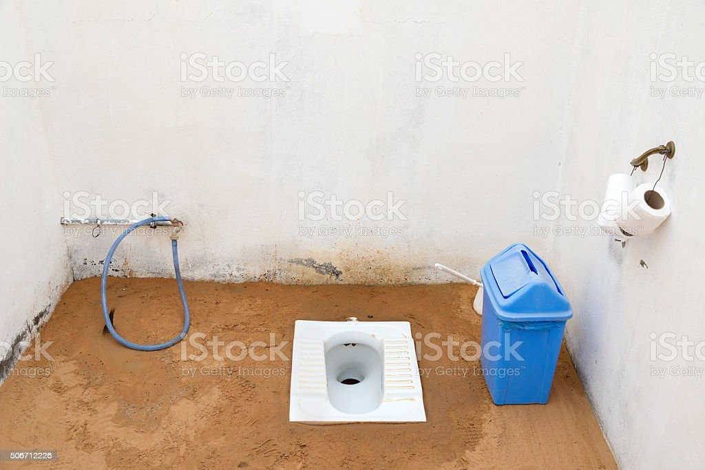 French loo desert Wahiba stock photo