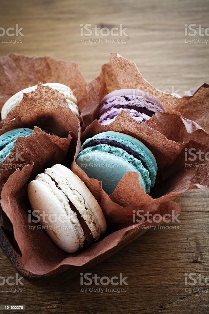 French macaroons royalty-free stock photo